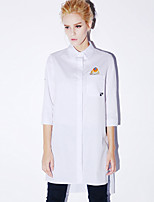 NEW BEFORE  Women's Casual/Daily Simple Spring ShirtPrint Shirt Collar Long Sleeve White