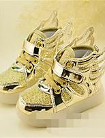יוניסקס-נעלי ספורט-עור-נוחות / מעוגל-ורוד / כסוף / זהב-קז'ואל-עקב שטוח