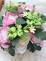 Wedding Flowers Round Peonies Bouquets Wedding / Party/ Evening Satin 9.84(Approx.25cm)