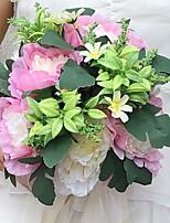 Fleurs de mariage Rond Pivoines Bouquets Mariage / Le Party / soirée Satin Env.25cm