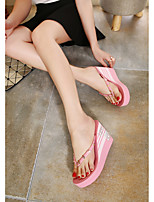 Women's Slippers & Flip-Flops Summer Slippers Rubber Casual Flat Heel Rivet / Others Black / Pink / Red / White Others