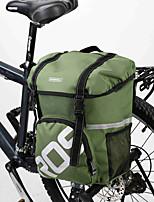 ROSWHEEL® Bolsa de Bicicleta 15LMala para Bagageiro de Bicicleta/Alforje para Bicicleta / Bolsa de OmbroÁ Prova-de-Água / Camurça de Vaca