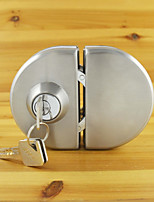Glass Door Lock 304 Stainless Steel without Hole Bidirectional Unlock Key - Knob Frameless Glass Door