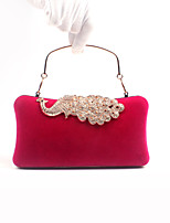 Women Velvet Rhinestone Formal / Event/Party / Wedding Evening Bag