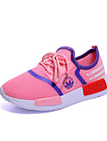Girl's Sneakers Spring / Fall Comfort / Round Toe Tulle Athletic / Casual Flat Heel Others / Lace-up Black / Blue