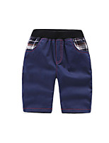 Boy's Going out Solid PantsCotton Summer Blue / Green