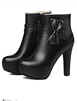 Women's Boots Fall / Winter Combat Boots PU Outdoor / Dress / Casual Stiletto Heel Others Black / Pink / White /