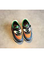 Unisex-Flache Schuhe-Lässig-Kunststoff-Flacher Absatz-Flache Schuhe-Schwarz / Mandelfarben