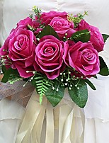 Wedding Flowers Round Roses Bouquets Wedding / Party/ Evening Satin 8.66(Approx.22cm)