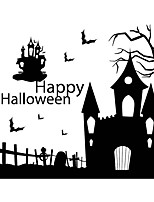 New Halloween Haunted House Wall Stickers Home Decor Living Room Creative DIY Art Decal Removable Wall Sticker