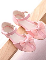 Girl's Sandals Summer Sandals PU Casual Flat Heel Bowknot Black / Pink / Purple Others