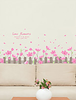Botânico / Romance / Vida Imóvel Wall Stickers Autocolantes de Aviões para Parede / Autocolantes 3D para ParedeAutocolantes de Parede