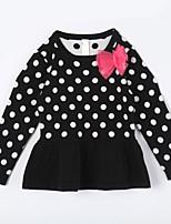 Girl's Casual/Daily Polka Dot Sweater & CardiganCotton Fall Black