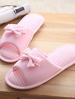 Damen-Slippers & Flip-Flops-Lässig-Baumwolle-Flacher Absatz-Komfort-Rosa / Grau