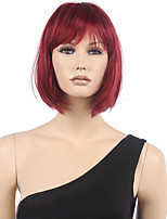 cortocircuito de la manera atractiva de las mujeres de la peluca cosplay de la peluca los 32cm del anime vino rojo del pelo del pelo
