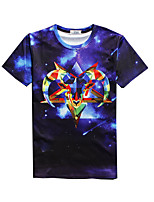 New Fashion Men Antelope Printed Crew Neck Short Sleeve Men 3d T-shirt
