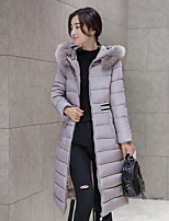 Women's Patchwork Thick Slim Hin Thin Padded Coat Simple Hooded Long Sleeve