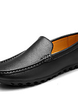 Men's Loafers & Slip-Ons Spring/Summer/Fall/Winter Moccasin Nappa Leather Office & Career Casual Black/Blue/White
