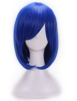 Kinky Cheap Synthetic Wigs For Women Heat Resistant Navy Blue Bob Wig Cosplay Anime Dark Blue