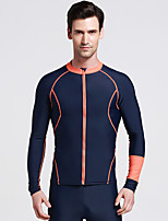 Sports Unisex Wetsuit Skin Breathable Ultraviolet Resistant Sweat-wicking Sunscreen Elastane Chinlon Diving Suit Long SleeveSwimming