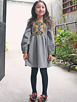 Girl's Going out Print Dress / Overall & JumpsuitCotton Winter / Fall Gray