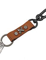 Key Chain / Key Chain Brown Metal / PU Leather