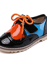 Unisex Sneakers Spring / Fall Round Toe PU Casual Flat Heel Lace-up Blue / White / Orange Others
