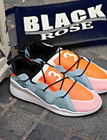 Men's Sneakers Fall Comfort Tulle Casual Flat Heel Others Black Orange Running