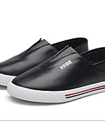 Unisex Sneakers Spring Summer Fall Leather Casual Athletic Flat Heel Others Black Pink White