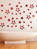 Acrylic Mirror Wall Stickers Pentagram Stickers Bedroom Living Room Ceiling Mirror