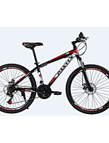 Mountain Bike Cycling 21 Speed 26 Inch/700CC 50mm Men's  Double Disc Brake Suspension Fork Steel Frame Ordinary