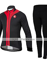 KEIYUEM® Cycling Jersey with Tights Unisex Long Sleeve BikeBreathable / Thermal / Warm / Quick Dry / Dust Proof / Wearable / Compression