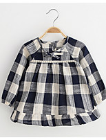 Girl's Casual/Daily Plaid BlouseCotton / Rayon Spring / Fall Gray