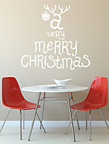 AYA DIY Wall Stickers Wall Decals Christmas Festival A Very Merry Chritmas Style PVC Stickers 55*59cm