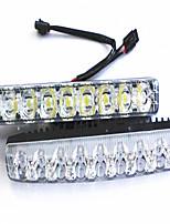 High-Power-Auto-LED-Leuchten Tagfahrlicht wasserdicht kleine Harpune 9-LED-Leuchten Tagfahrlicht Scheinwerfer laufen