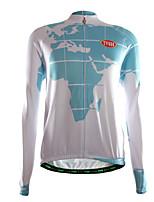 Esportivo Camisa para Ciclismo Homens Manga Comprida Moto Respirável / Mantenha Quente / Zíper Frontal / Vestível / Tecido Ultra Leve