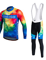 Miloto® Cycling Jersey with Bib Tights Men's / Unisex Long Sleeve BikeBreathable / Quick Dry / Moisture Permeability / 3D Pad /