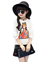 Girl's Casual/Daily Embroidered Suit & BlazerCotton Fall Pink / Red / White