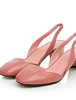 Women's Sandals Spring / Summer / Fall Sandals Cowhide Casual Chunky Heel Others Black / Pink Others