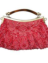 L.west Women Elegant High-grade Retro Beaded Evening Bag