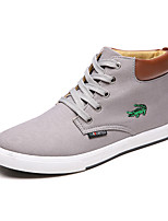 Men's Fashion Canvas Sneaker Casual/Travel/Youth Medium cut Crocodile Shoes