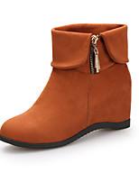 Women's Dance Shoes Boots Velvet Breathable Chunky Heel Black/Red/Brown