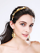 Mulheres Liga / Imitação de Pérola Capacete-Casamento / Ocasião Especial Bandanas 2 Peças Dourado