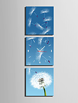 MINI SIZE E-HOME Dandelion In The Wind Clock in Canvas 3pcs