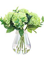 1 1 Филиал Полиэстер Гортензии Букеты на стол Искусственные Цветы 48cm