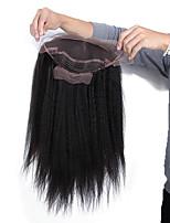 14-18 дюймов braizlian девственница Remy человеческих волос бесклеевой / полный парик шнурка Kinky прямой парик