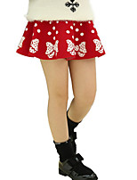 Girl's Casual/Daily Polka Dot SkirtPolyester Summer Black / Red