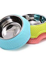 Кошка / Собака Миски и бутылки с водой Животные Чаши и откорма Компактность Зеленый / Голубой / Розовый Пластик / Нержавеющая сталь