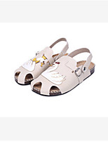 Women's Slippers & Flip-Flops Spring / Summer / Fall Flats PU Casual Flat Heel Animal Print White Others