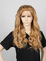No shedding No tangle Honey Blonde Color Wavy Human Hair Full Lace Wig